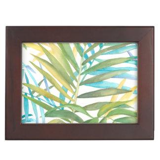 Tropical Palm Leaves Keepsake Box