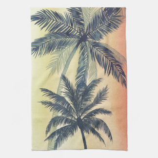 Tropical Palm Leaves Kitchen Towels