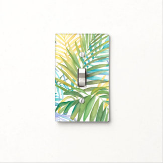 Tropical Palm Leaves Light Switch Cover