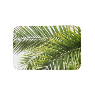 Tropical palm leaves photo summer florida paradise bath mat