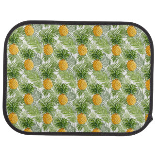 Tropical Palm Leaves & Pineapples Car Liners