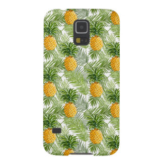 Tropical Palm Leaves & Pineapples Galaxy S5 Cover