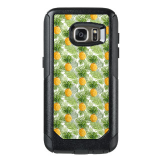 Tropical Palm Leaves & Pineapples OtterBox Samsung Galaxy S7 Case