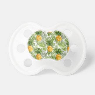 Tropical Palm Leaves & Pineapples Pacifiers