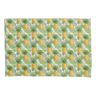 Tropical Palm Leaves & Pineapples Pillowcase