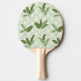 Tropical Palm Leaves Ping-Pong Paddle