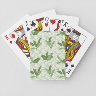 Tropical Palm Leaves Playing Cards