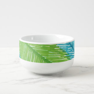 Tropical Palm Leaves Soup Bowl