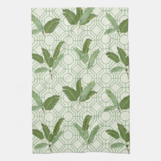 Tropical Palm Leaves Towel