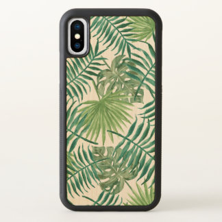 Tropical Palm Leaves Watercolor iPhone X Case