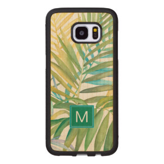 Tropical Palm Leaves Wood Samsung Galaxy S7 Edge Case