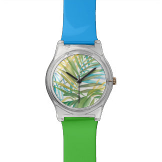 Tropical Palm Leaves Wristwatches