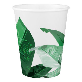 Tropical Palm Print Leaves Paper Cups Paper Cup