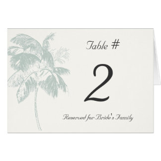 Tropical Palm Reception Table Number