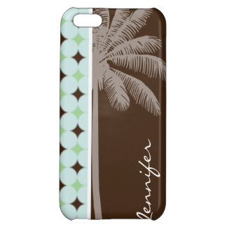 Tropical Palm; Sage Green & Brown iPhone 5C Cases