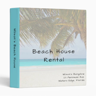 Tropical Palm Tree Beach House Rental Binder