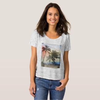 Tropical Palm Tree, Beach Summer Sunset, T-Shirt