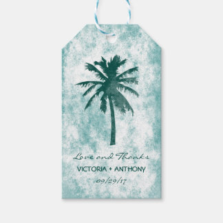 Tropical Palm Tree Beach Wedding Thank You Gift Tags
