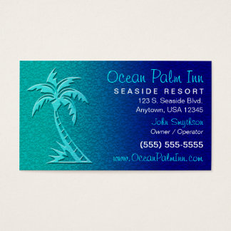 Tropical / Palm Tree Business Card