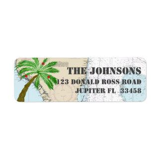 Tropical Palm Tree Christmas Holidays Nautical