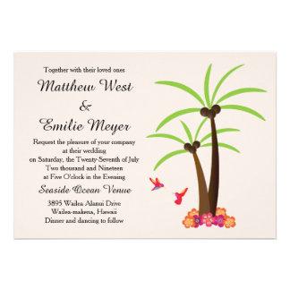 Tropical Palm Tree Destination Wedding Invitation