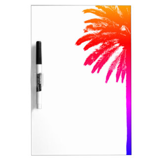 Tropical palm tree dry erase board with pen