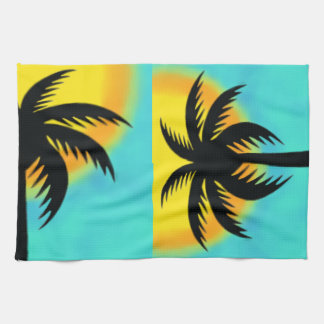 TROPICAL PALM TREE KITCHEN TOWEL
