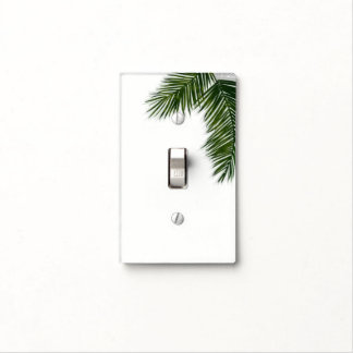 Tropical Palm Tree Leaf Elegant Summer Tropics Light Switch Cover