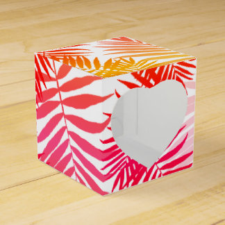 Tropical Palm Tree Leaf Summer Sunset Favor Boxes