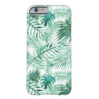 Tropical Palm Tree Leaves Pattern iPhone 6 Case
