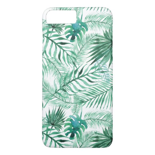 Tropical Palm Tree Leaves Pattern iPhone 7 Plus Case