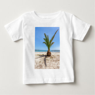 Tropical palm tree on sandy beach baby T-Shirt