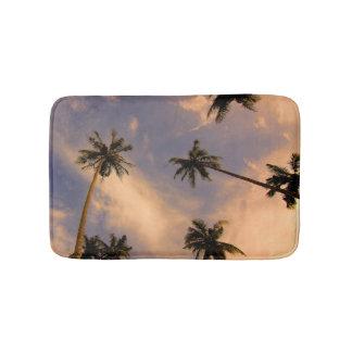 Tropical palm tree photo summer paradise hawaii bath mat