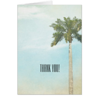 Tropical Palm tree Thank You Card