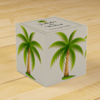 Tropical Palm Tree Wedding Party Favor Boxes