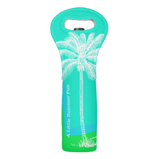 Tropical Palm Tree Wine Tote