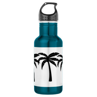 Tropical Palm Trees 532 Ml Water Bottle