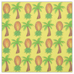 Tropical Palm Trees and Pineapples Fabric