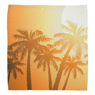 Tropical palm trees at sunset bandana