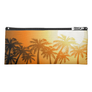 Tropical palm trees at sunset pencil case