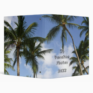 Tropical Palm Trees Blue Sky 3 Ring Binder