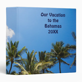 Tropical Palm Trees Blue Sky Binders