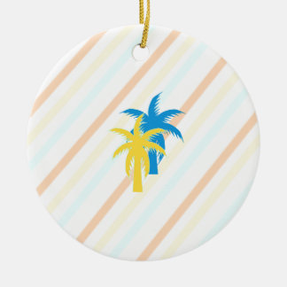 tropical palm trees ceramic ornament