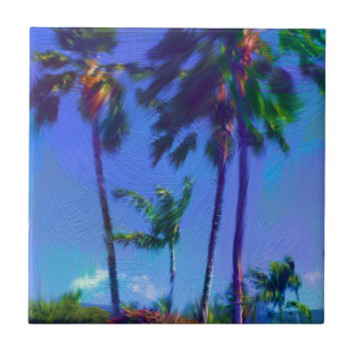 Tropical Palm Trees Ceramic Tile