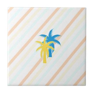 tropical palm trees ceramic tiles