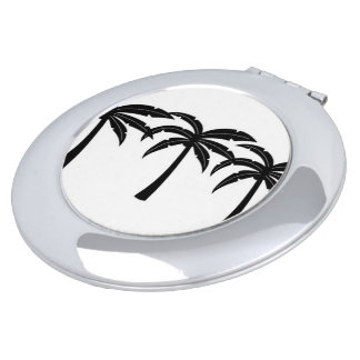 Tropical Palm Trees Compact Mirror