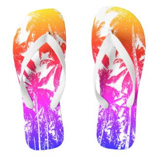 Tropical Palm Trees Flip Flops