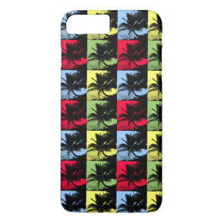 Tropical Palm Trees in Posterised Pattern Case-Mate iPhone Case