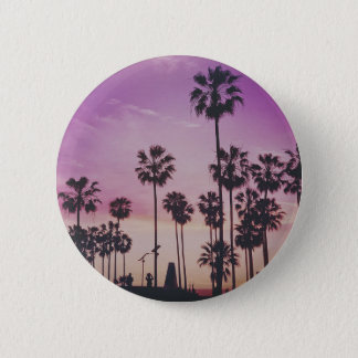 Tropical Palm Trees Miami Los Angeles Venice 2 Inch Round Button