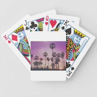 Tropical Palm Trees Miami Los Angeles Venice Bicycle Playing Cards